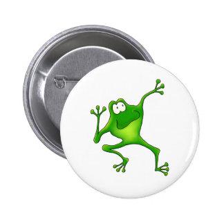 Aerobics Frog 6 Cm Round Badge