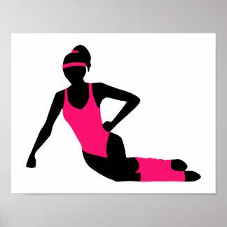 Aerobics girl poster