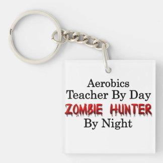 Aerobics Teacher/Zombie Hunter Single-Sided Square Acrylic Key Ring