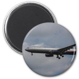 Aeroflot Airbus A330 6 Cm Round Magnet