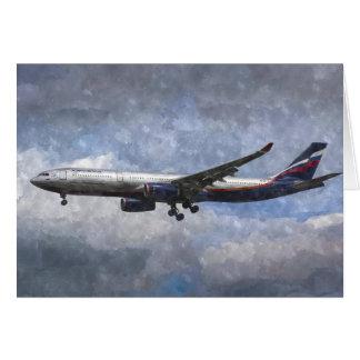 Aeroflot Airbus A330 Art Card