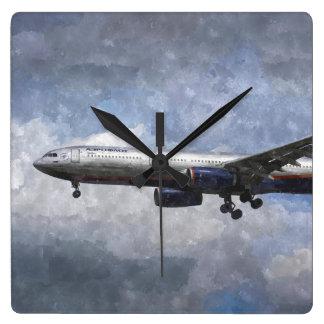 Aeroflot Airbus A330 Art Clock