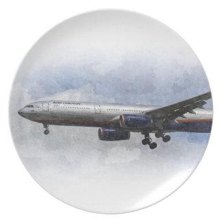 Aeroflot Airbus A330 Art Dinner Plate