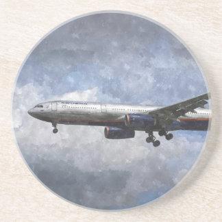 Aeroflot Airbus A330 Art Drink Coasters