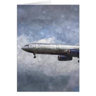 Aeroflot Airbus A330 Art Greeting Card