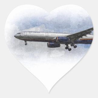Aeroflot Airbus A330 Art Heart Sticker