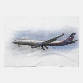 Aeroflot Airbus A330 Art Kitchen Towels