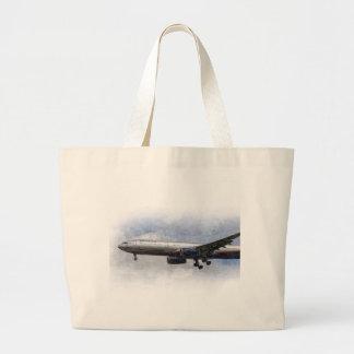 Aeroflot Airbus A330 Art Large Tote Bag