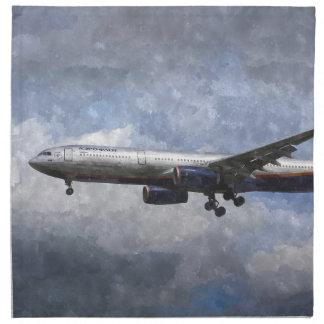Aeroflot Airbus A330 Art Napkin