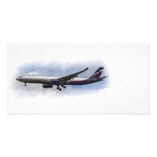 Aeroflot Airbus A330 Art Photo Greeting Card