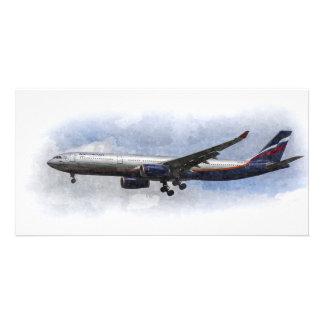 Aeroflot Airbus A330 Art Picture Card