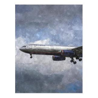 Aeroflot Airbus A330 Art Postcard