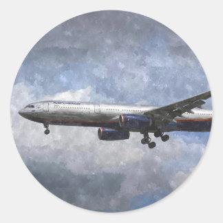 Aeroflot Airbus A330 Art Round Sticker