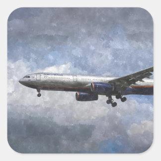 Aeroflot Airbus A330 Art Square Sticker