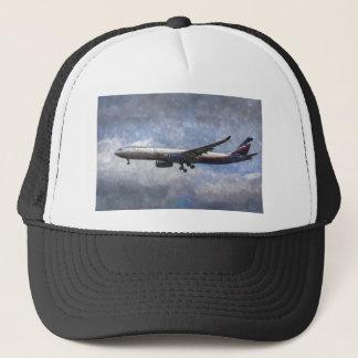 Aeroflot Airbus A330 Art Trucker Hat