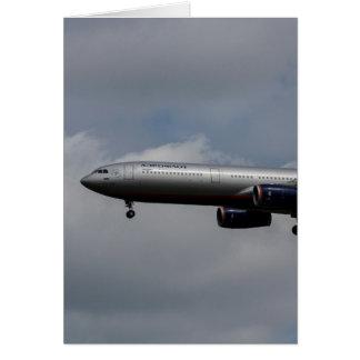 Aeroflot Airbus A330 Card