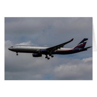 Aeroflot Airbus A330 Greeting Card
