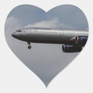 Aeroflot Airbus A330 Heart Sticker
