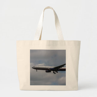 Aeroflot Airbus A330 Large Tote Bag