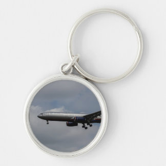 Aeroflot Airbus A330 Silver-Colored Round Key Ring