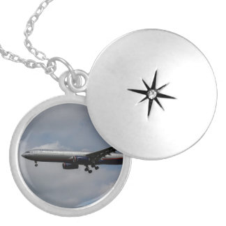 Aeroflot Airbus A330 Silver Plated Necklace