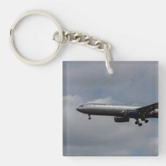 Aeroflot Airbus A330 Single-Sided Square Acrylic Key Ring