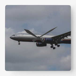 Aeroflot Airbus A330 Square Wall Clock