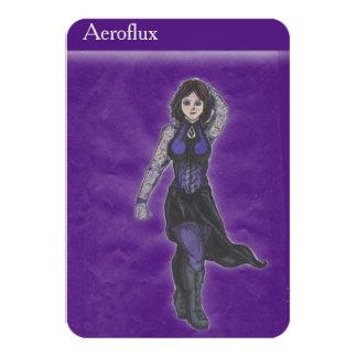 Aeroflux Collector's Card 9 Cm X 13 Cm Invitation Card