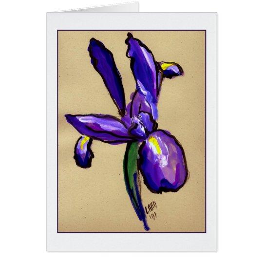 Aeronautical Iris Painting Greeting Card