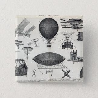 Aeronautics - Aerial Machines 15 Cm Square Badge
