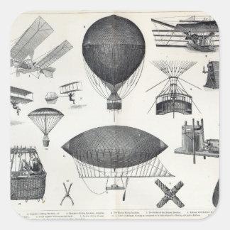 Aeronautics - Aerial Machines Square Sticker