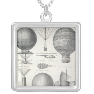 Aeronautics Silver Plated Necklace