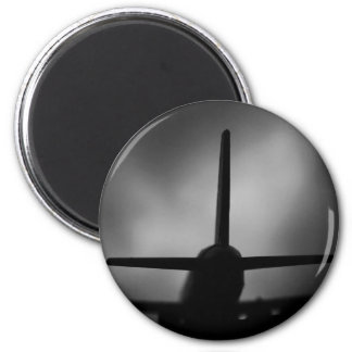 Aeroplane 6 Cm Round Magnet
