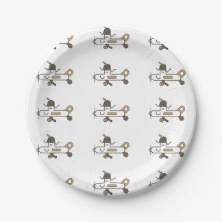Aeroplane 7 Inch Paper Plate