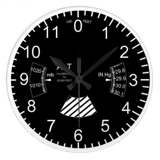 aeroplane altimeter wall clock
