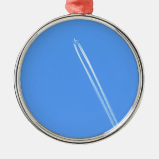 Aeroplane and Vapour Trail Christmas Ornament