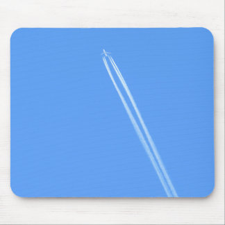 Aeroplane and Vapour Trail Mouse Mat