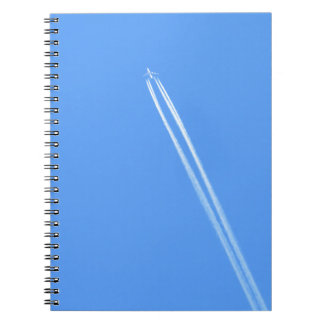 Aeroplane and Vapour Trail Spiral Notebook