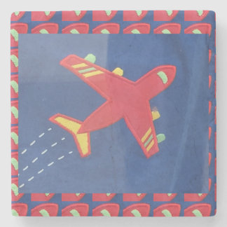 Aeroplane Avion Plane Fly Flight Kids Toys Stone Coaster