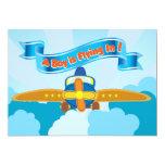 Aeroplane Baby Boy Shower Invite