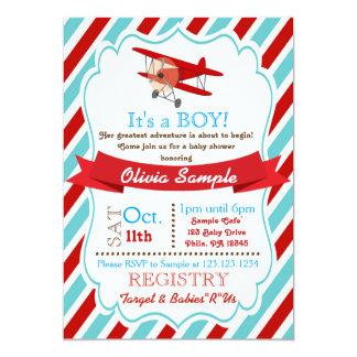 Aeroplane Baby Shower Invitation