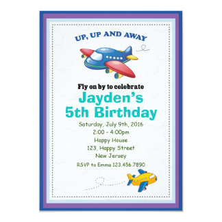 Aeroplane Birthday Invitation