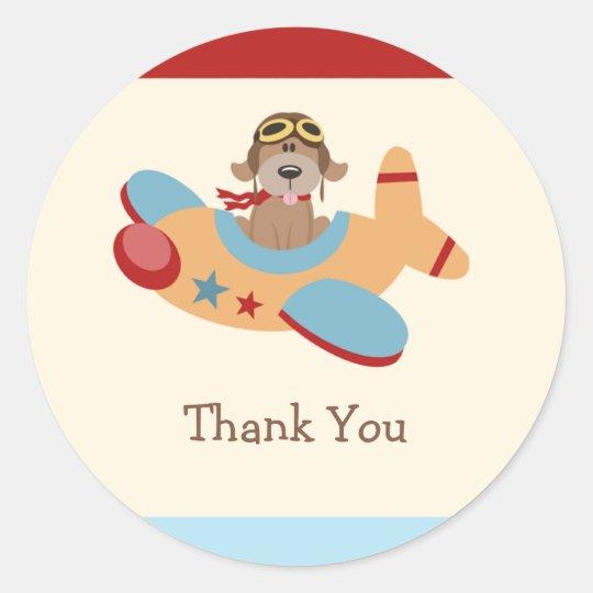 Aeroplane Birthday Party Stickers