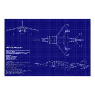 Aeroplane Blueprints | AV-8B Harrier