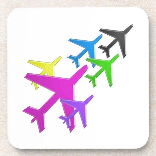 AEROPLANE cadeaux pour les enfants flotte d'avion Drink Coasters