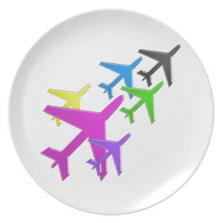 AEROPLANE cadeaux pour les enfants flotte d'avion Dinner Plate