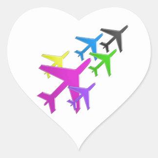 AEROPLANE cadeaux pour les enfants flotte d'avion Heart Sticker