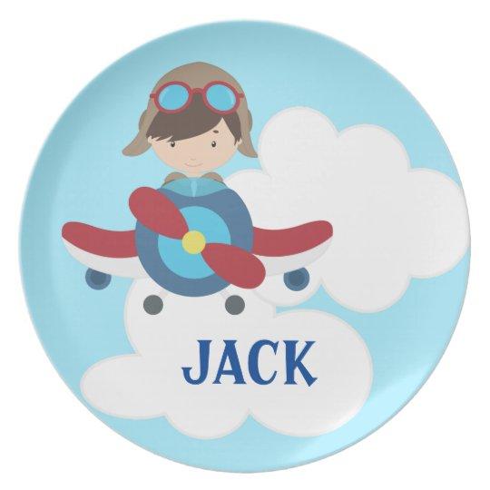 Aeroplane Children's Melamine Plate
