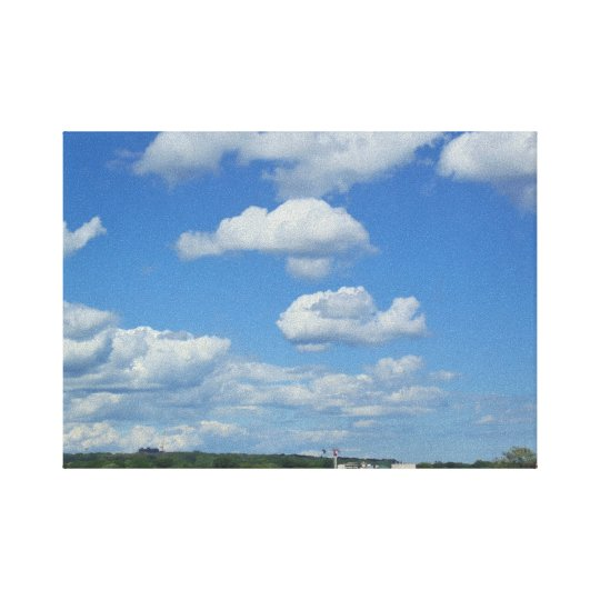 Aeroplane Cloud in Toronto Skies Canvas Print
