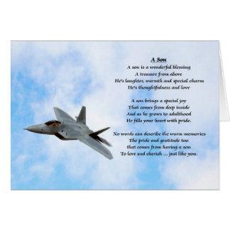 Aeroplane Design - Son Poem Greeting Card